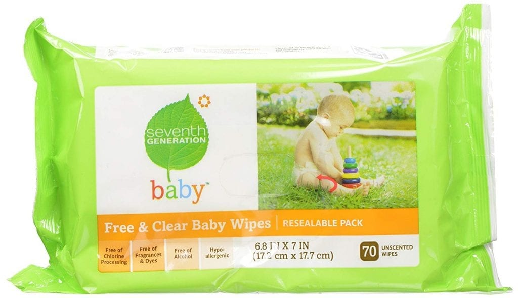 Seventh Generation Original 350 Count Gentle And Soft Free Clear Baby Wipes