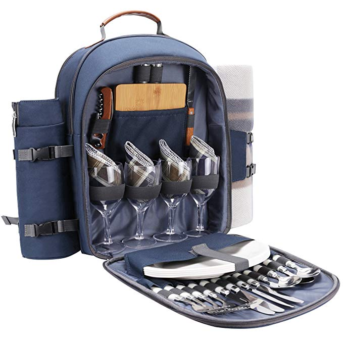 Sunflora Picnic Backpack( Navy Blue)