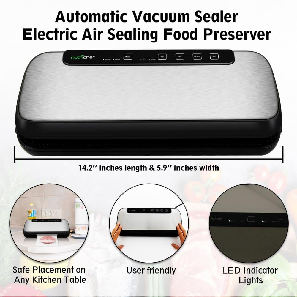 Vacuum Sealer By NutriChef | Automatic Vacuum Air Sealing System