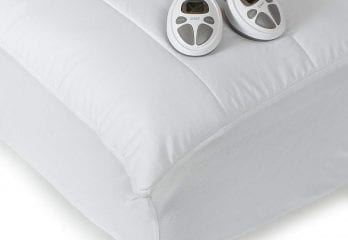 Sunbeam Imperial Queen Heated Mattress Pad, 140-Thread-Count Poly/Cotton, White