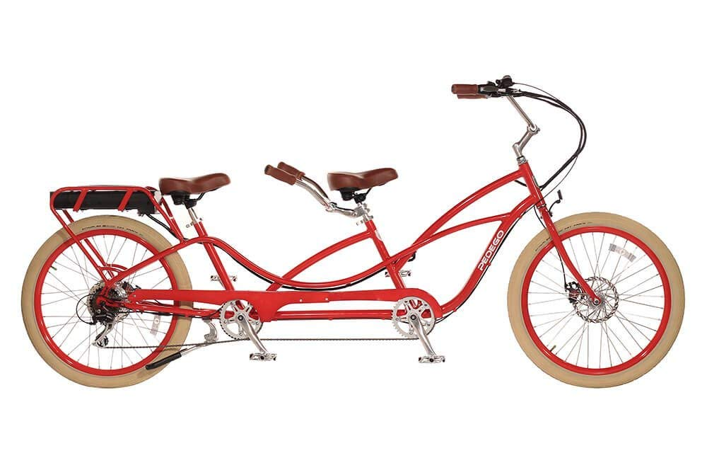 Pedego-Tandem-Red with Crème-Balloon-Package