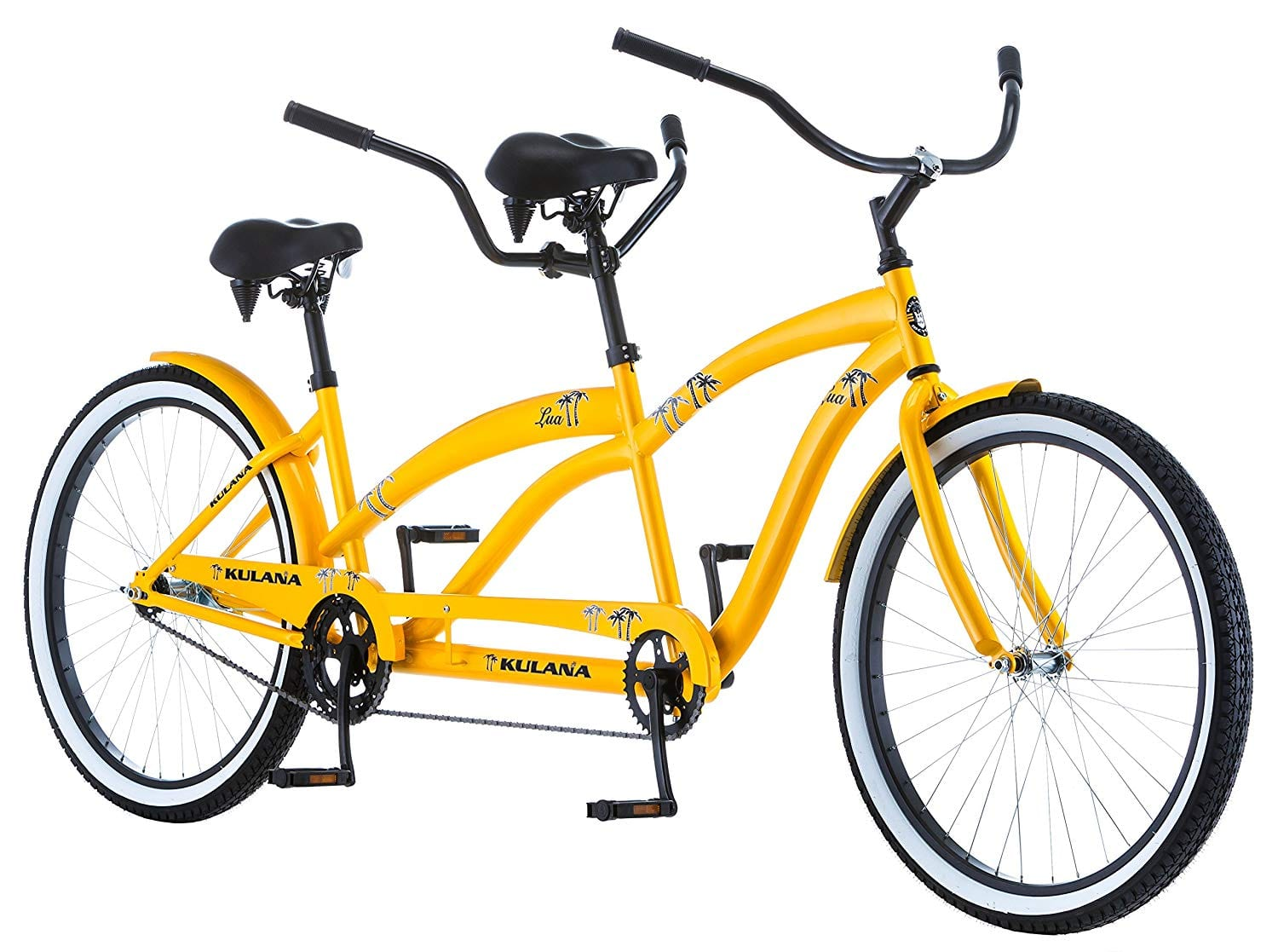 Kulana-Lua-Single-Speed-Tandem 26-Inch Wheel-Yellow-Bike
