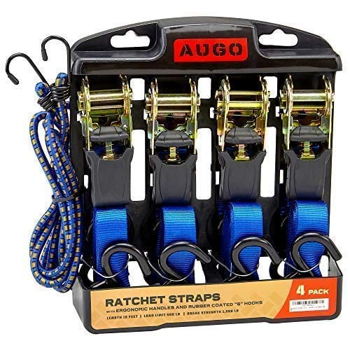 AUGO Ratchet Straps With Bungee Cord