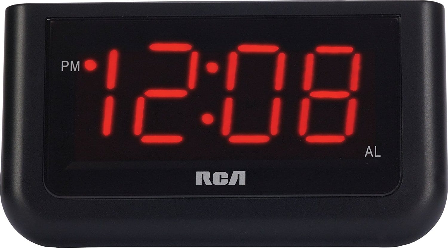 RCA digital alarm clock with large screen 1.4