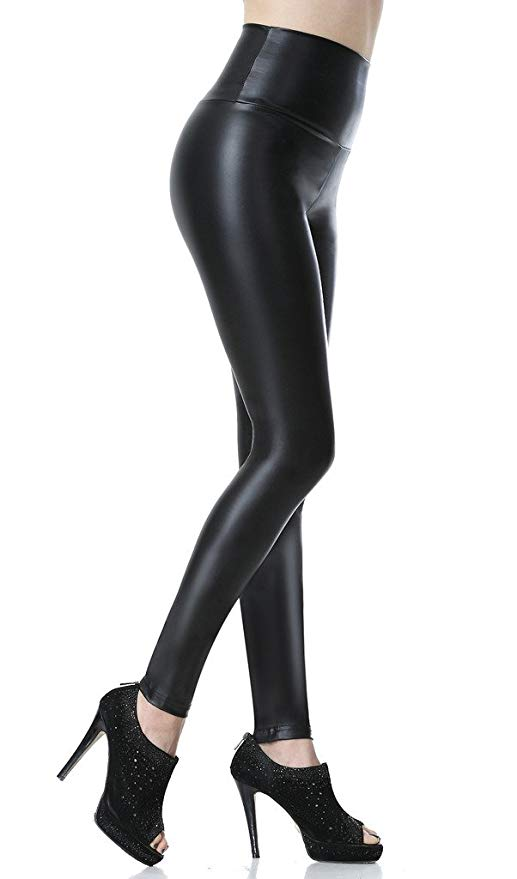 Everbellus Sexy Women's Faux Leather Ankle Legging
