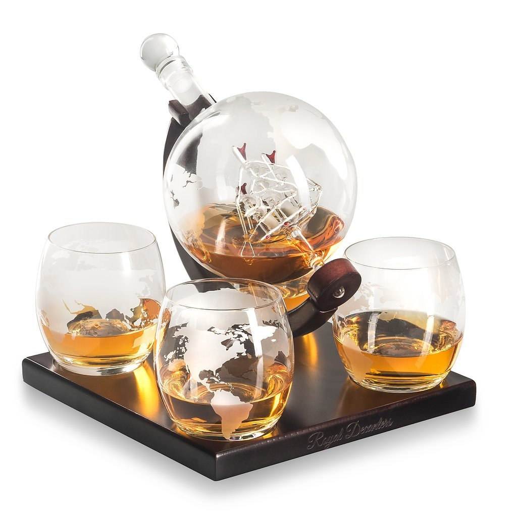 Royal Decanters Etched Globe Decanter