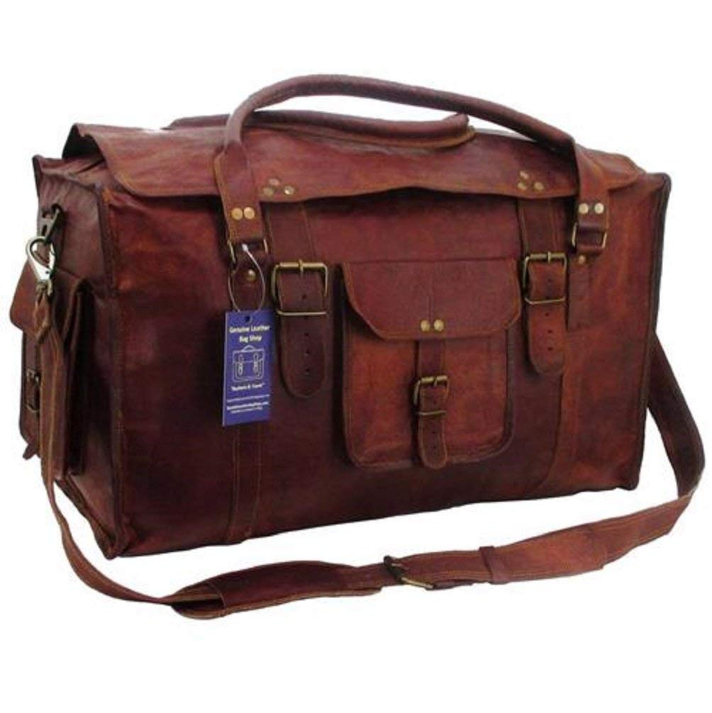 TOM&CLOVERS BAGS Men's Retro Style Carry-On Luggage