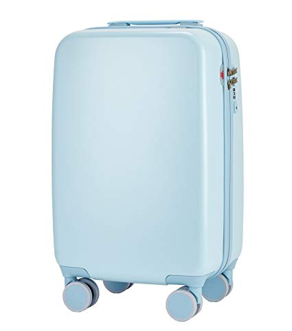JOLLYCHIC 20-Inches Candy Color Women's Rolling Carry-On Luggage