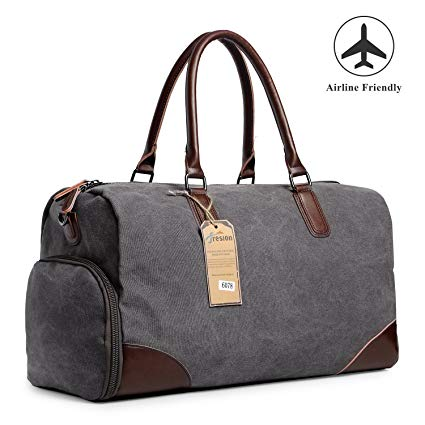 Fresion Canvas Duffel Carry-On Luggage for Men