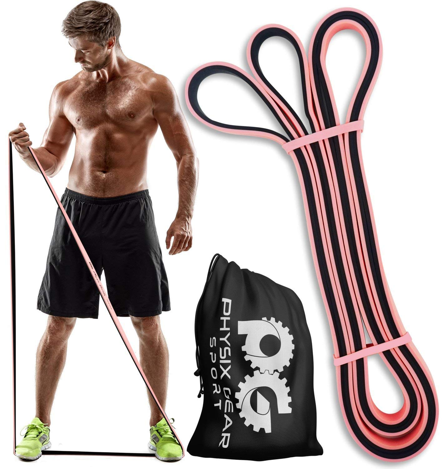 Physix Gear Pull-Up Assist Heavy-Duty Resistance Bands