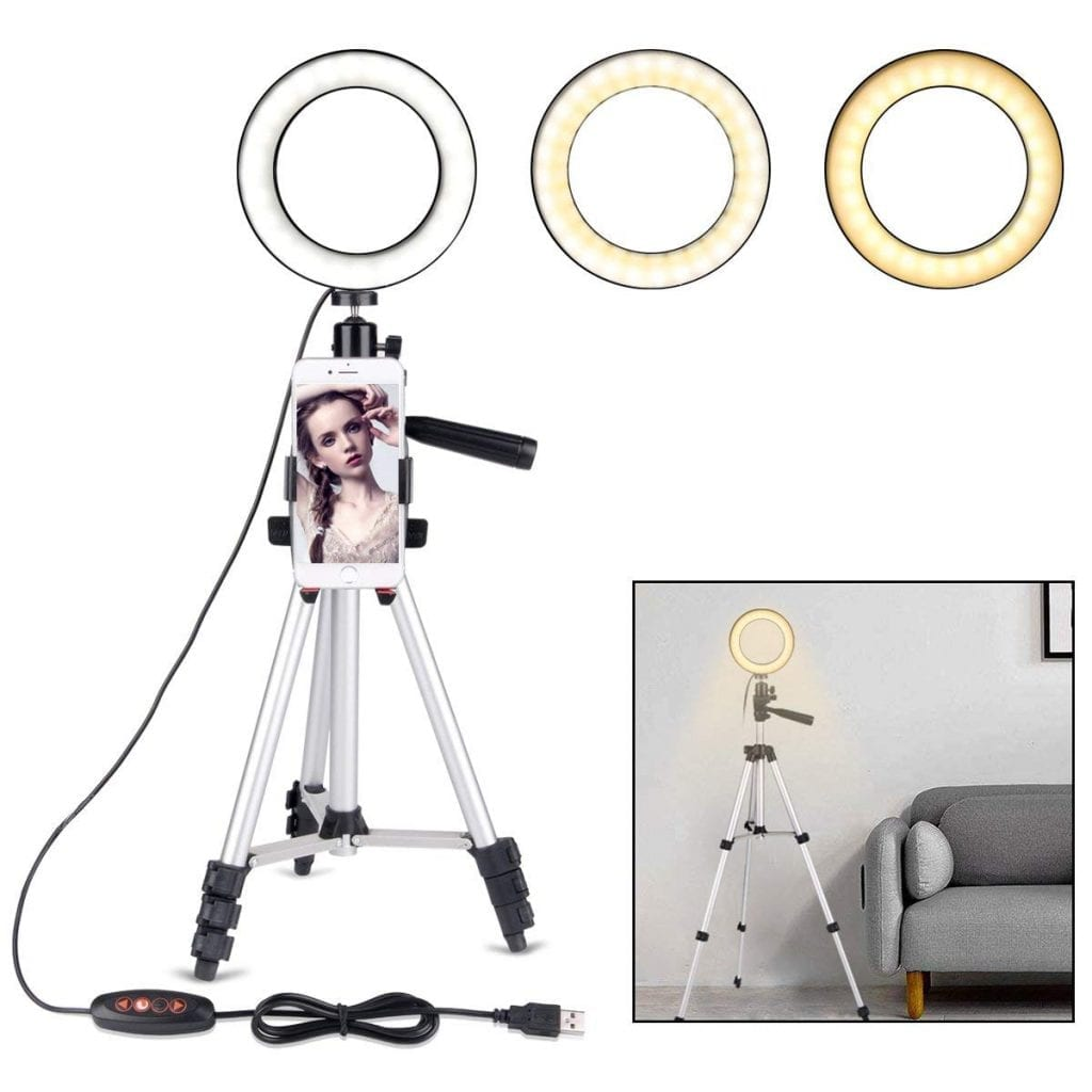 """B-Land 5.7"""" Ring Light with Tripod Stand"""
