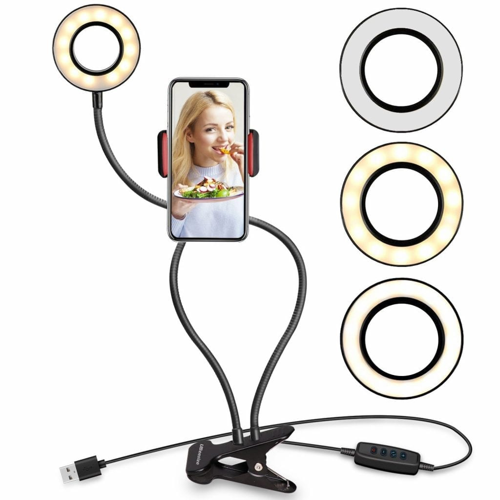 UBeesize Selfie Ring Light With Cell Phone Holder Stand