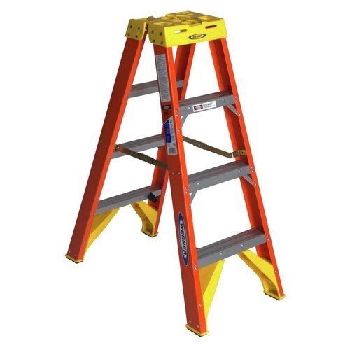 T6204 Twin Step Fiberglass Ladder by Werner