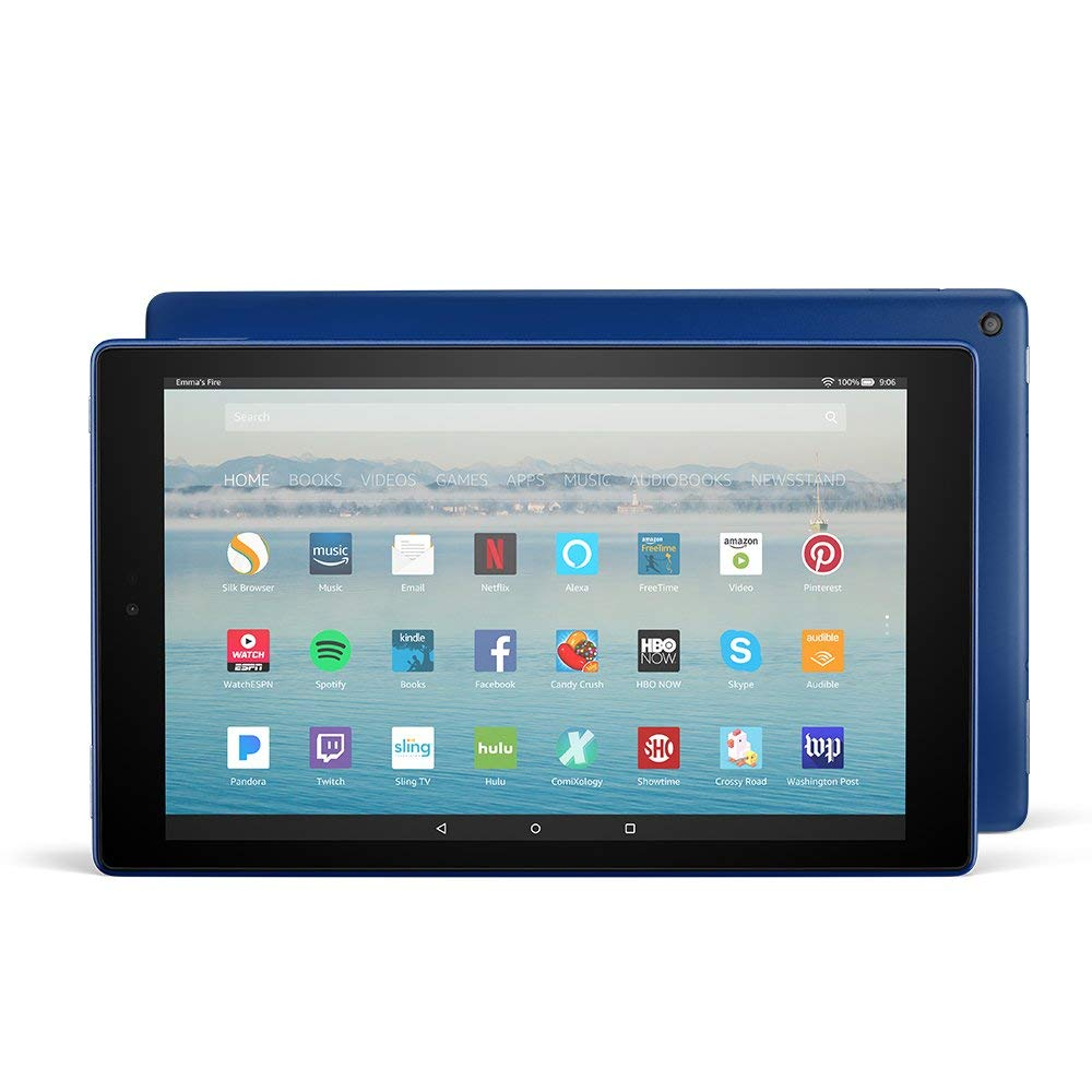 Fire HD 10 Tablet with 32 GB Alexa Hands-Free 1080p Full HD Display