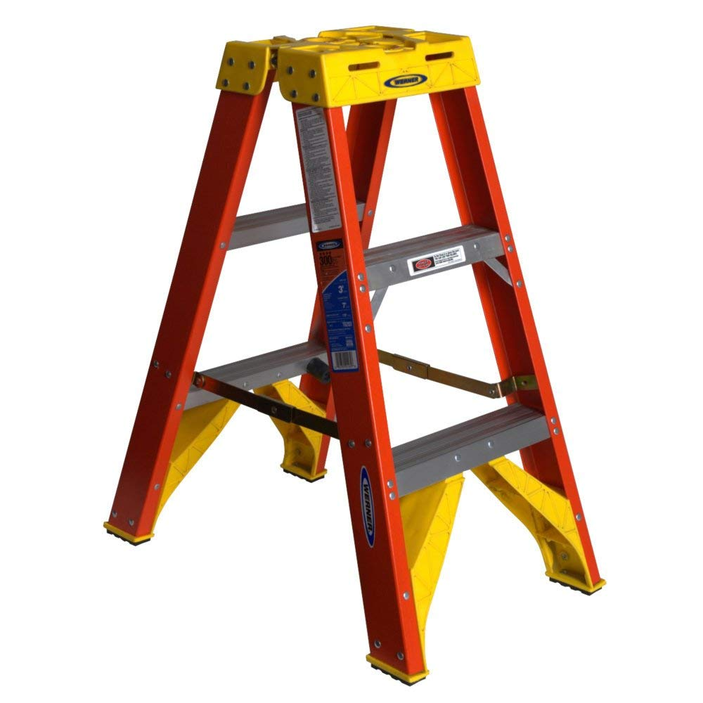 Werner 300-Pound Duty Twin Stepladder, T6203