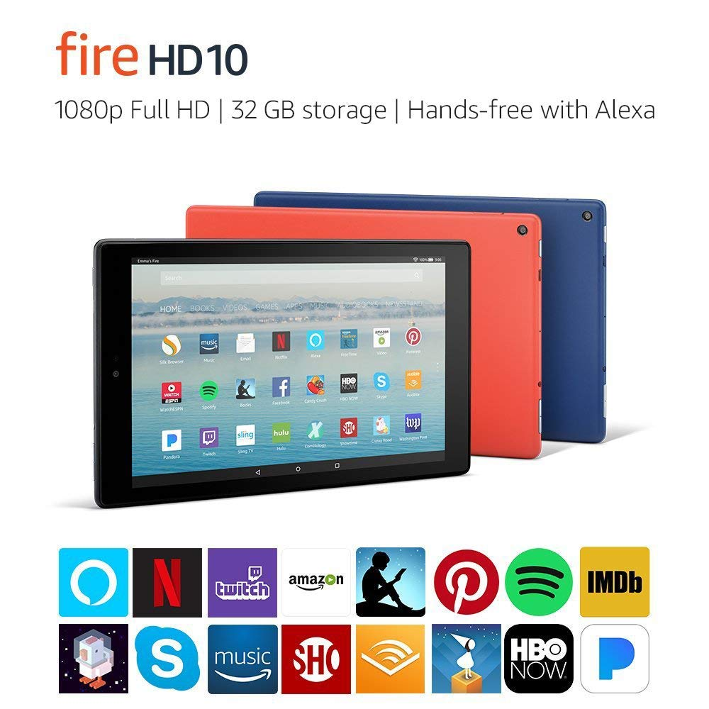 Fire HD 10 Tablet with 1080p Full HD Display Alexa Hands-Free