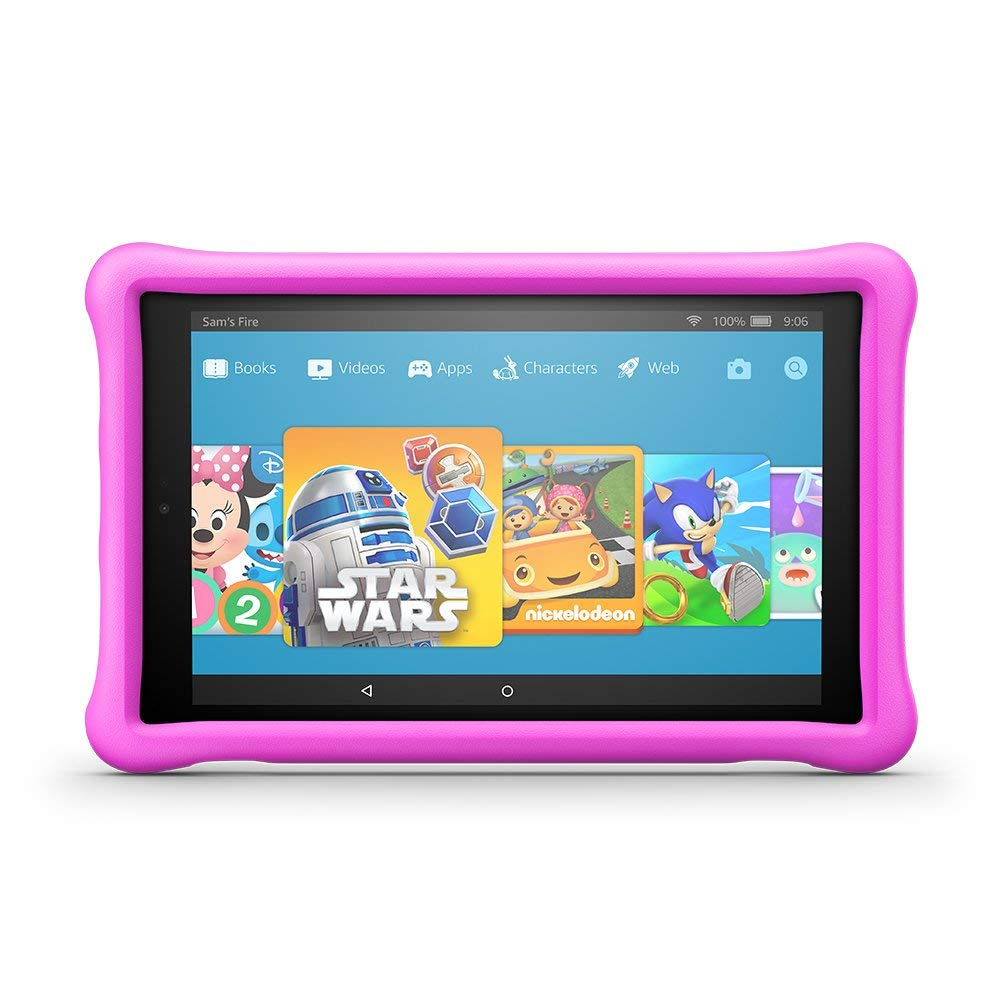 All-New Fire Kids HD 10 Edition Tablet, Pink Kid-Proof Case
