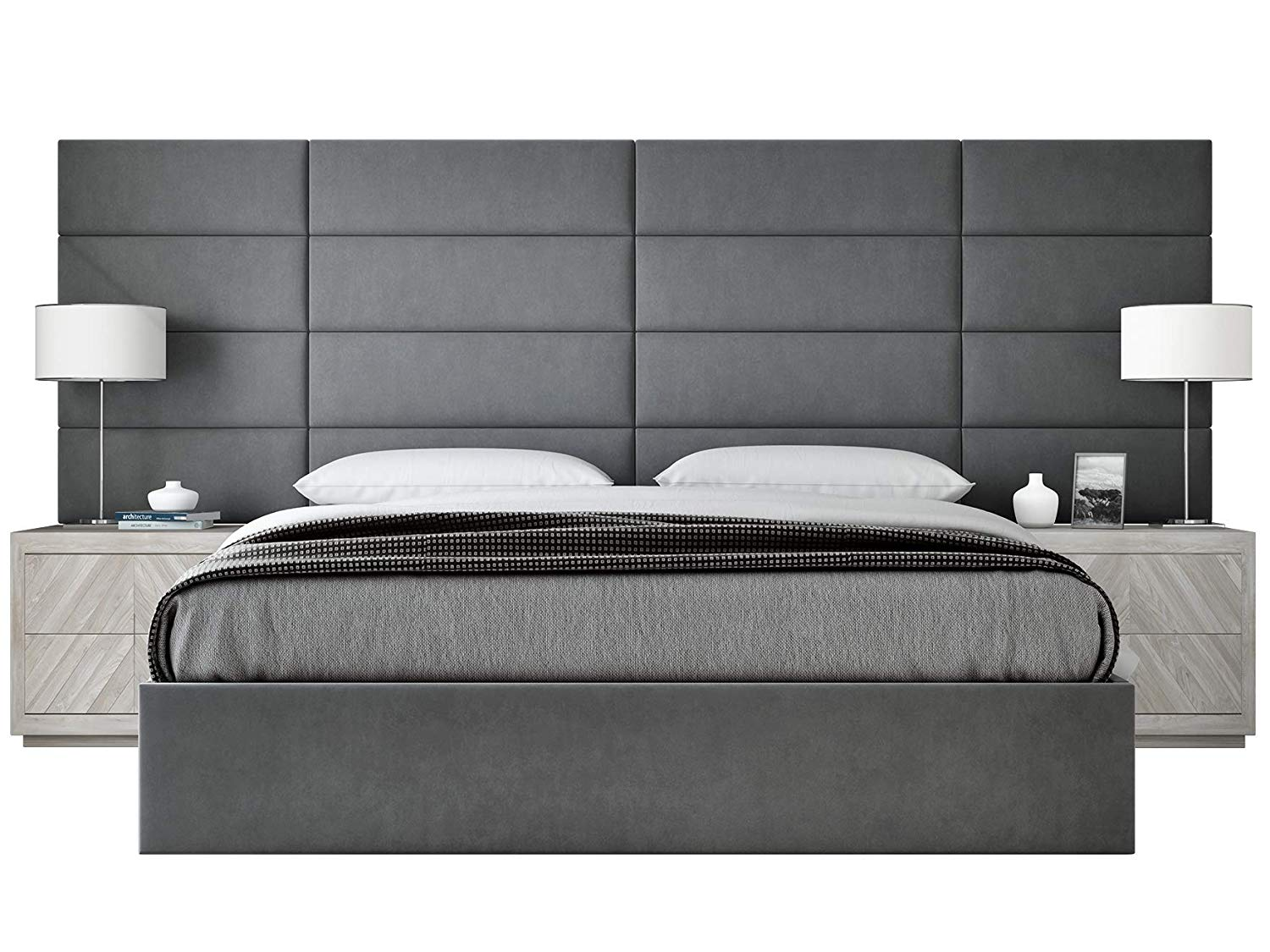 VANT Upholstered Accent WALL Panels King Headboard