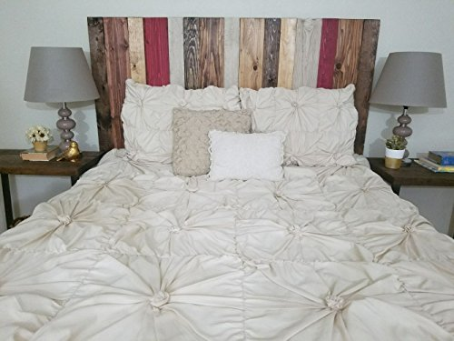 Barn Walls Fall Mix Design Queen Size Handcrafted Headboard