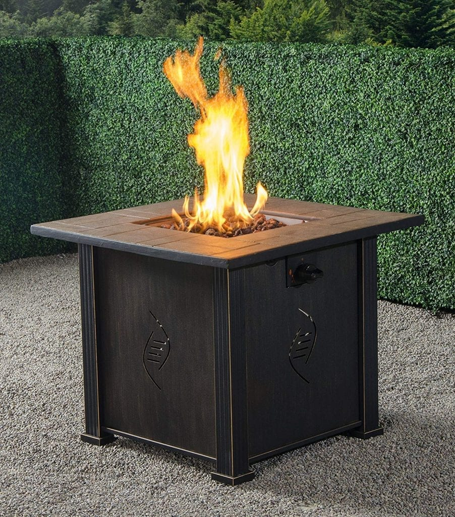 Bond lari Outdoor Gas Fire Pit Table