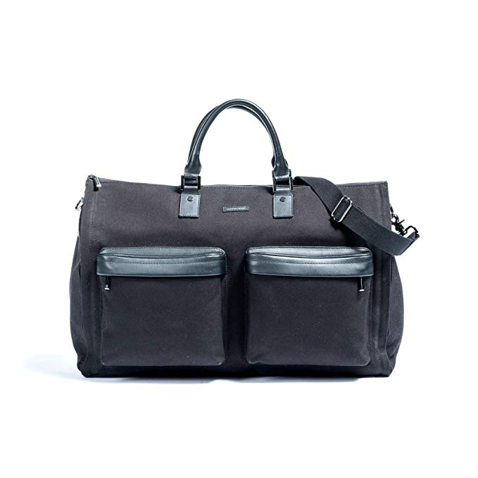 Hook and Albert Waxed Canvas Garment Weekender Bag