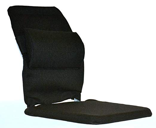 Black Improve Posture TIC-TEC Lumbar Support for Car Seat Driver-Lightweight Comfortable Air Motion Car Seat Cushion for Lower Back Pain Relief Heat Insulation Breathable