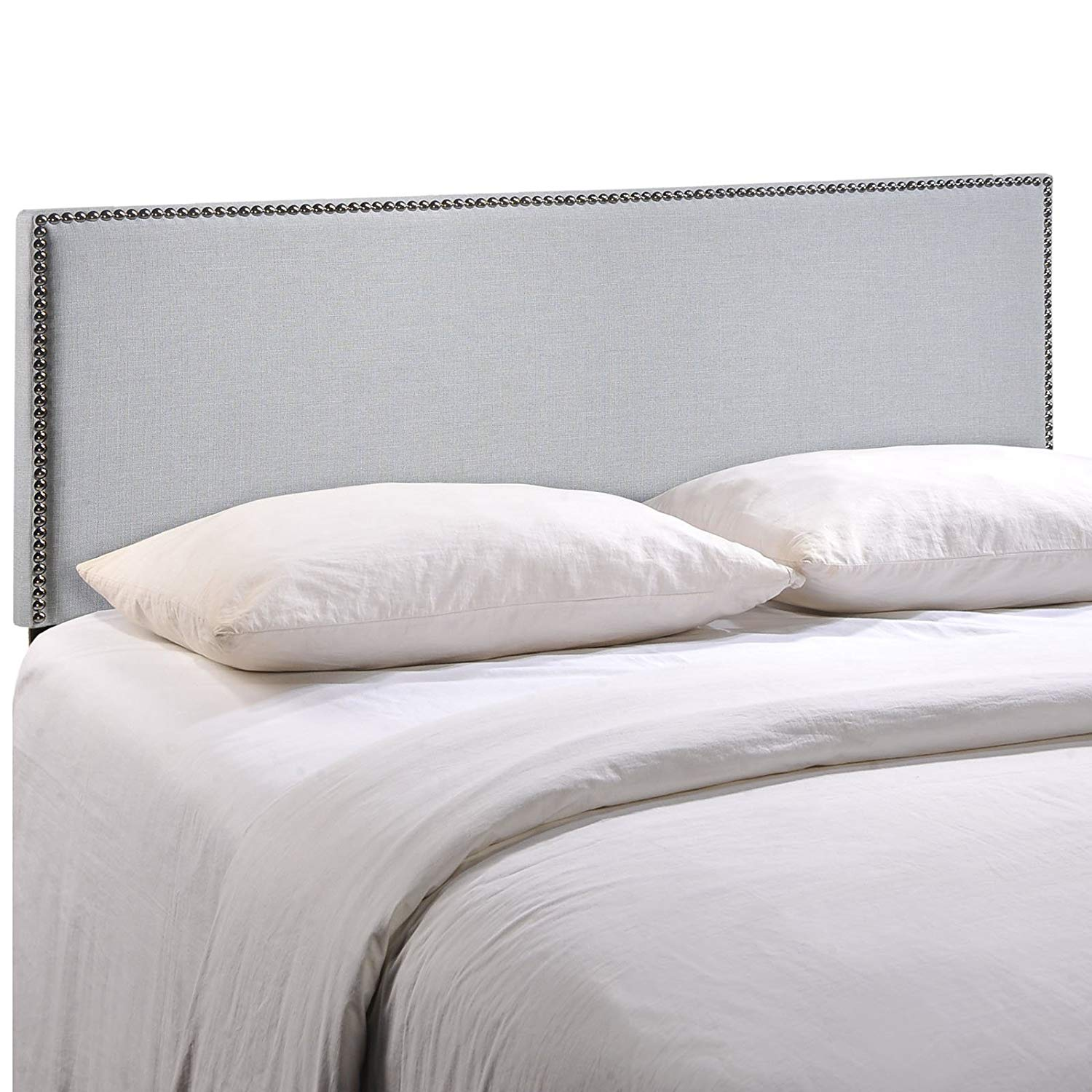 Modway Region Nailhead Linen King Headboard