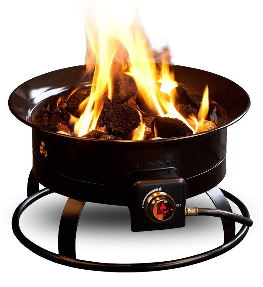 Outland Firebowl Deluxe Outdoor Portable Propane Gas Fire Pit