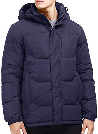 Puredown Goose Down Puffer Hooded Jacket