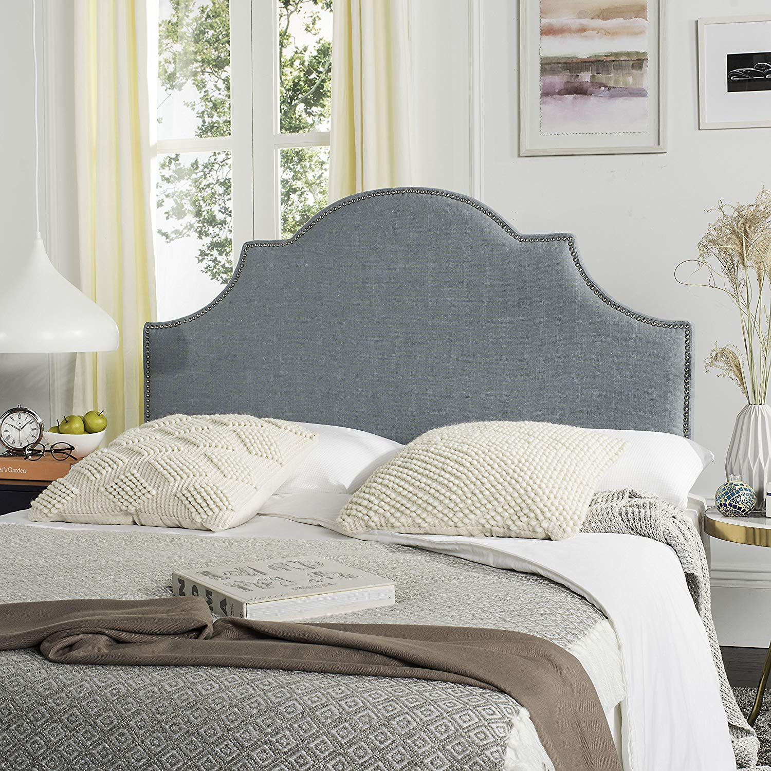 Safavieh Hallmar Sky Blue Arched Headboard Queen