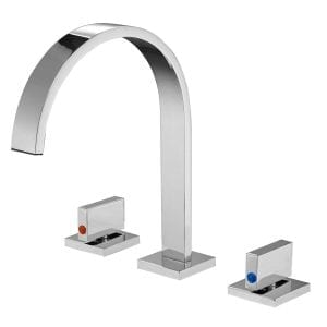Aquafaucet Waterfall Chrome Finish 8-16 Inch Bathroom Sink Faucet