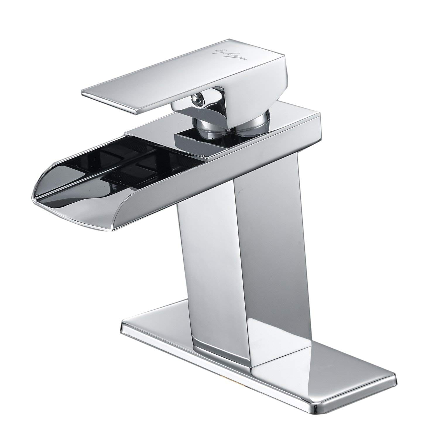 BWE Chrome Waterfall Single Handle Bathroom Faucet