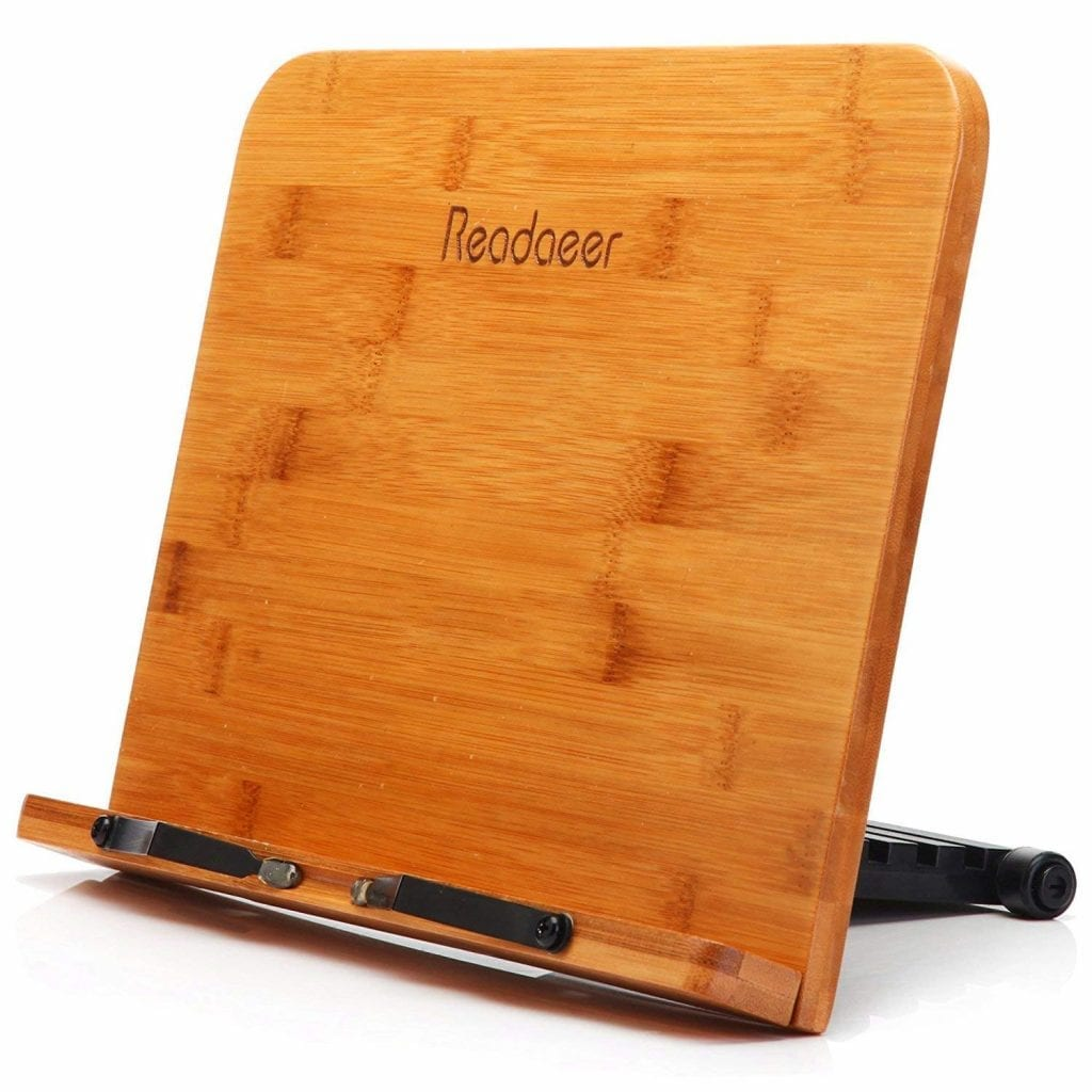 ASINNO Bamboo Reading Rest Book Holder