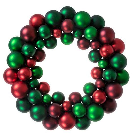 Christmas Ornament Wreath by Clever Creations
