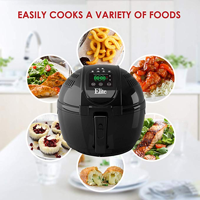 Elite Platinum Electric Digital Hot Air Fryer Oil-less Cooker
