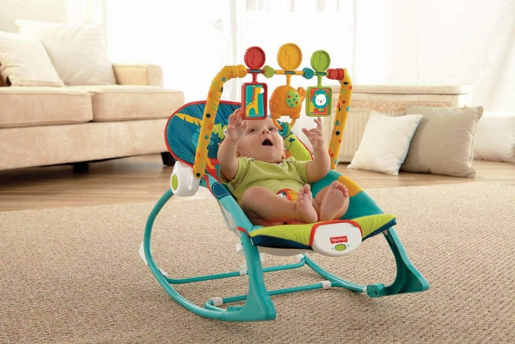 Fisher-Price Infant-to-Toddler Rocker, Dark Safari