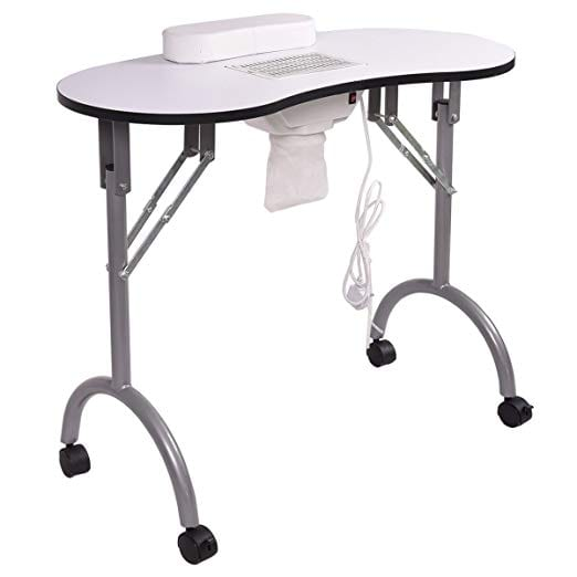 GiantexFolding Portable Vented Manicure Table