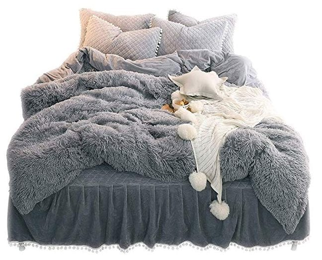LIFEREVO Luxury Plush Shaggy Bedding Set