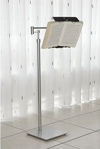 Lecco Book Holder Floor Stand with Wheels