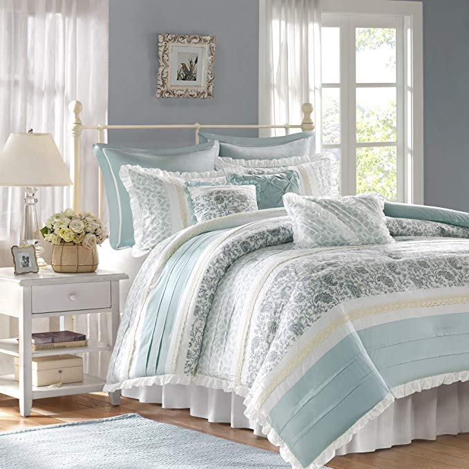 Madison Park Dawn Queen Size Bed Comforter Set