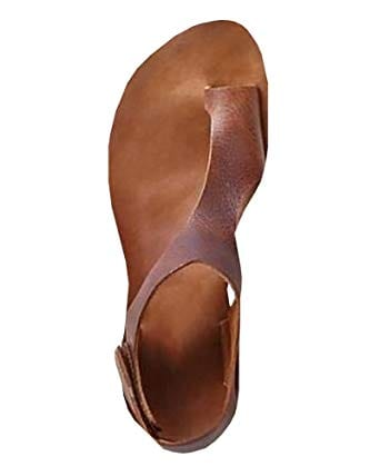 Meilidress Womens Casual Leather Sandals