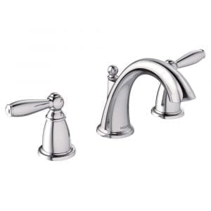 Moen T6620 Two-Handle Brantford Low-Arc Bathroom Faucet, Chrome