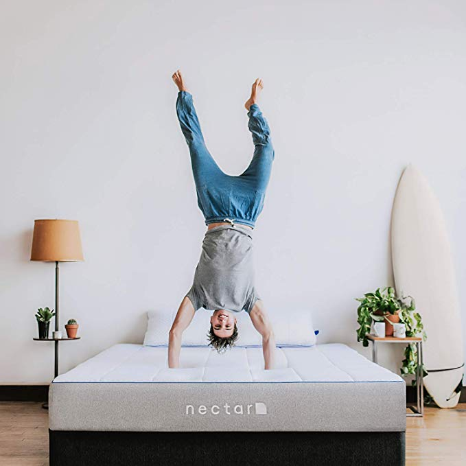 Nectar Twin Mattress + 2 Pillows Included - Gel Memory Foam - CertiPUR-US Certified - 180 Night Home Trial - Forever Warranty