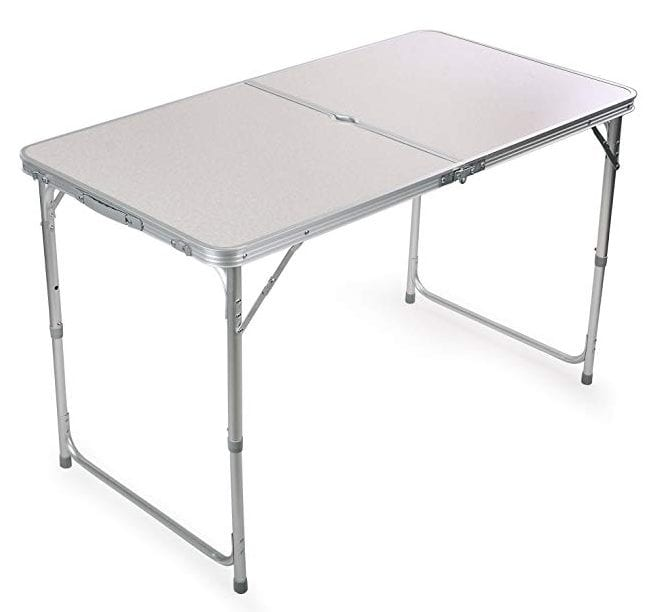 H&B Luxuries Portable Aluminum Folding Table
