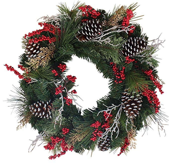 The Wreath Depot Somerset Winter Red Berry Wreath
