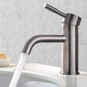 VCCUCINE Contemporary Brushed Nickel Single Handle Lavatory Faucet