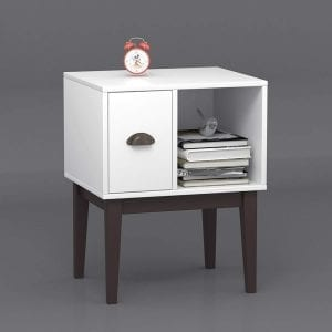 White-Table-Modern-Nightstand