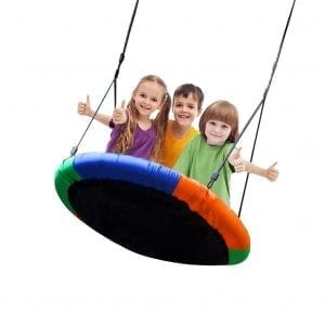 Blue Island Children's Outdoor 40-Inch Saucer Tree Swing