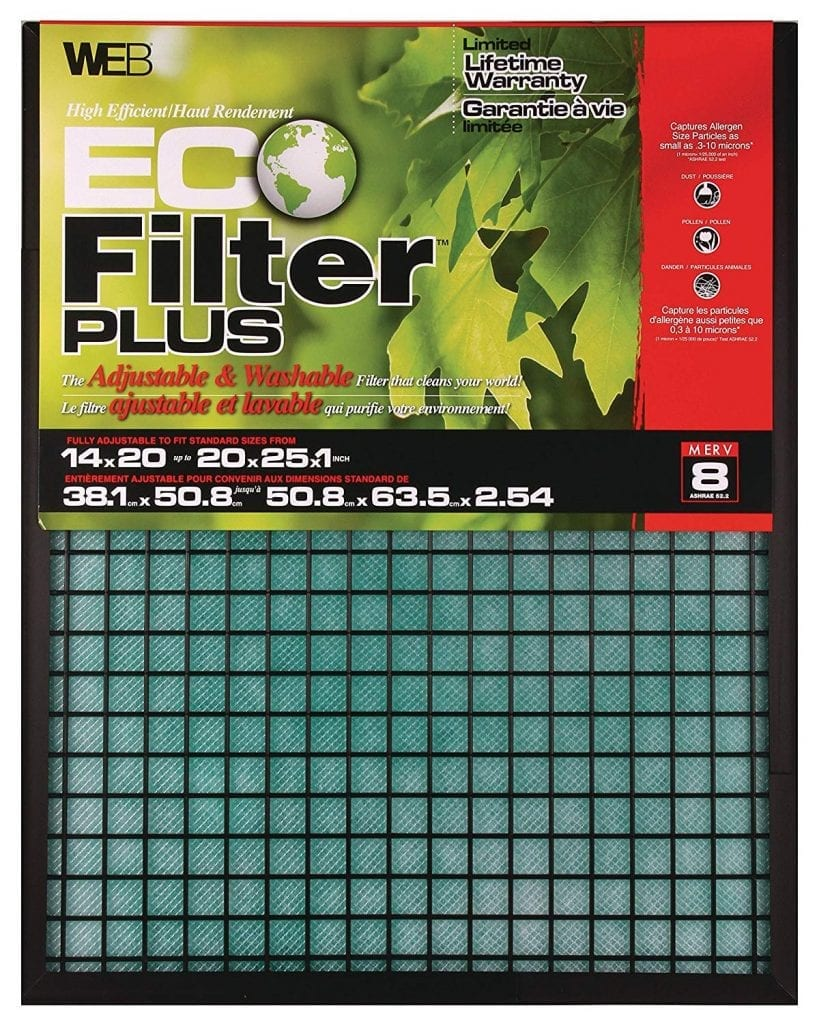 Eco-Filter-Plus Adjustable Air Filter from WEB