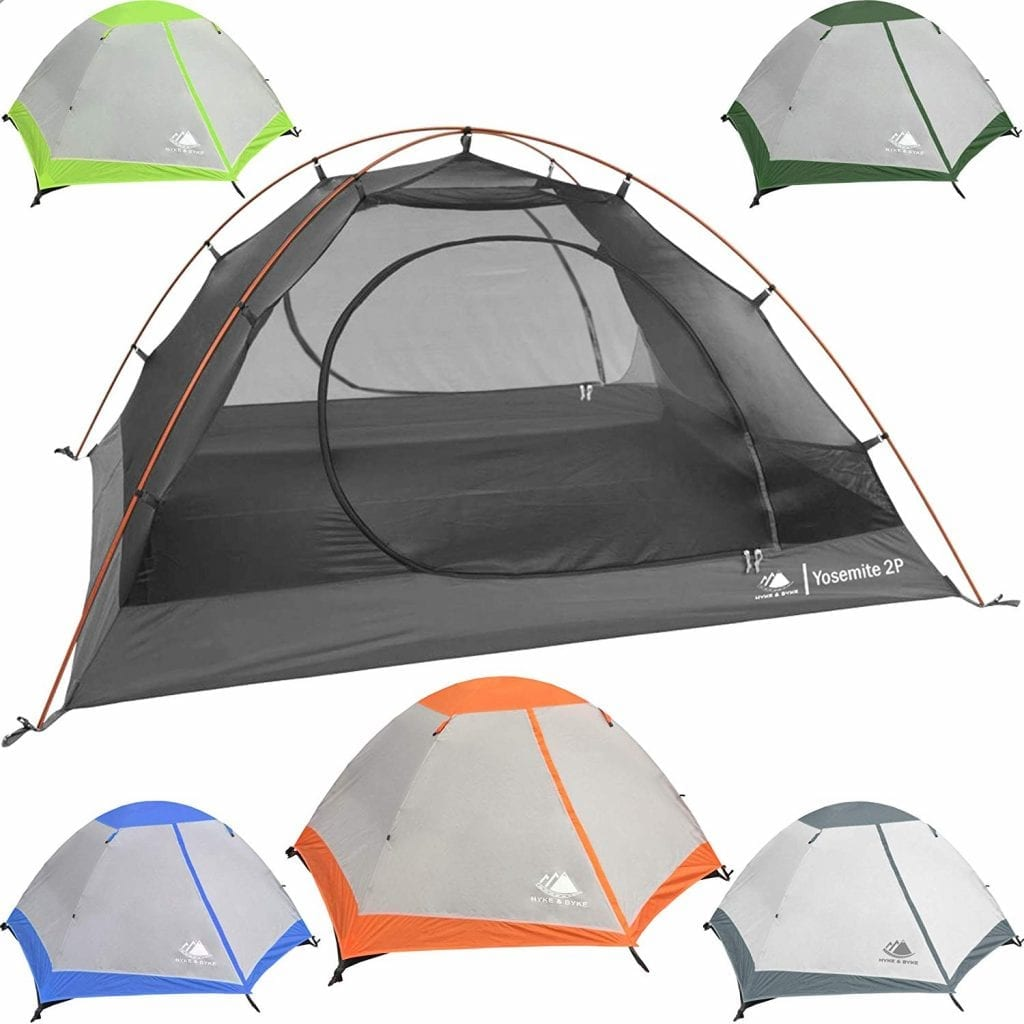 Hyke and Byke Yosemite 1 and 2 Person Backpacking tent